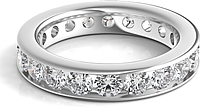 Channel Set Round Brilliant Cut Diamond Eternity Ring 2.00ct tw