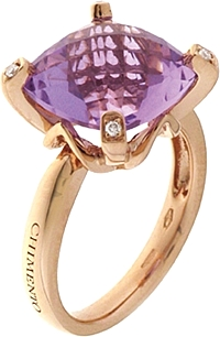 Chimento 18k Rose Gold Amethyst Ring