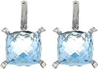 Chimento 18k White Gold Blue Topaz Earrings