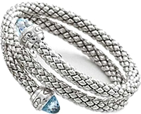 Chimento Sterling Silver Double Wrap Bracelet