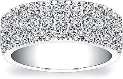 Coast Diamond 3 Row Wedding Band WC5105H