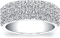 Coast Diamond 3-Row Diamond Wedding Band