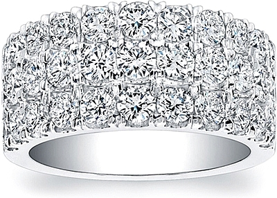 Coast Diamond 3 Row Wedding Band WZ5014H