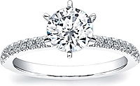 Coast Diamond 6 Prong Diamond Engagement Ring