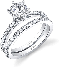 Coast Diamond Pave 6 Prong Diamond Engagement Ring