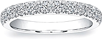 Coast Diamond Single Row Pave Diamond Wedding Band