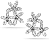 Dana Rebecca 'Agnes Fortune' Diamond Flower Earrings
