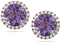 Dana Rebecca 'Anna Beth' Diamond & Amethyst Earrings