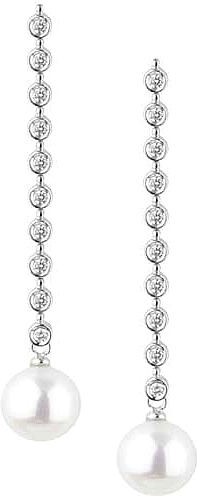 Dana Rebecca 'Betsy Ellen' Diamond & Pearl Drop Earrings