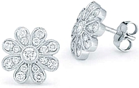 Dana Rebecca Diamond Flower Earrings
