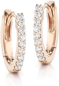 Dana Rebecca Diamond Huggy Earrings