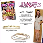 A single bangle featured in Life & Style on Lauren Conrad stacked with Karly Beth; Sold separately.