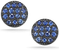Dana Rebecca 'Lauren Joy' Mini Blue Sapphire Earrings