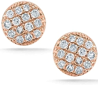 Dana Rebecca 'Lauren Joy' Mini Rose Gold Diamond Earrings
