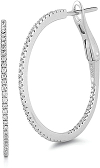 Dana Rebecca Medium Diamond Hoop Earrings
