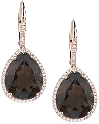 Dana Rebecca 'Samantha Lynn' Smoky Quartz & Diamond Earrings