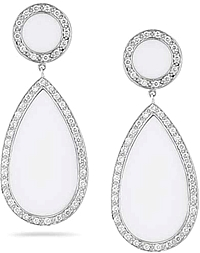 Dana Rebecca 'Sara Elizabeth' Diamond & White Agate Earrings