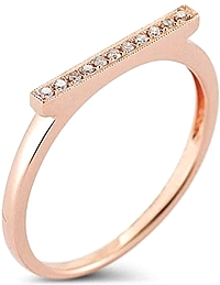 Dana Rebecca 'Sylvie Rose' Diamond Bar Ring