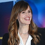 Sylvie Rose Double Bar necklace as seen on Jennifer Garner.