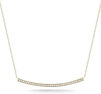 Dana Rebecca 'Sylvie Rose' Long Diamond Bar Necklace