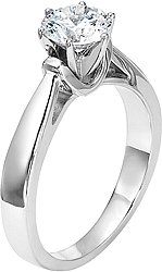 Diana 6 Prong Solitaire Cathedral Engagement Ring