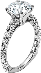 Diana Common Prong Diamond Engagement Ring