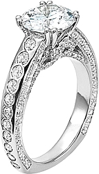 Diana Pave & Burnished Diamond Engagement Ring