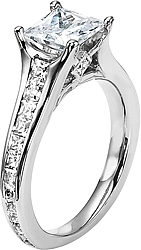 diana princess cut channel set engagement ring d n152