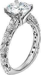 Diana Prong & Pave Set Diamond Engagement Ring