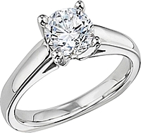 Diana Solitaire Cathedral Engagement Ring