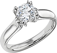 Diana Solitaire Split Prong Engagement Ring