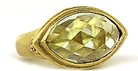 Dominique Cohen 18k Yellow Gold Mint Green Topaz Ring