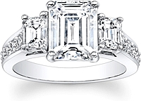 Emerald Cut 3-Stone Diamond Engagement Ring