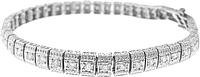 Estate 14K White Gold Antique Diamond Tennis Bracelet