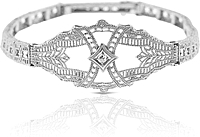 Estate 14K White Gold Filigree Bracelet
