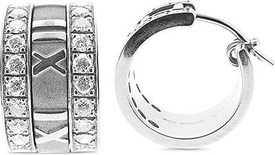 Estate Tiffany Atlas Diamond Earrings 1 00ct Tw 150 02649