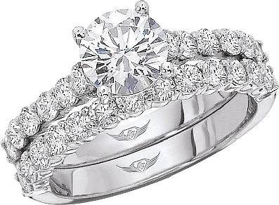 the brilliant diamond center rings prong c ring with image setting engagement this tacori a prongset shows set round cut