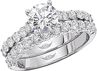 FlyerFit Common Prong Round Brilliant Diamond Engagement Ring