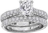 FlyerFit Micro-Pave Diamond Engagement Ring