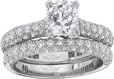 ee74bc05704ae FlyerFit Micro-Pave Diamond Engagement Ring