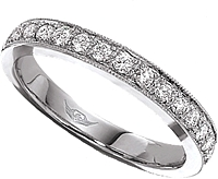 FlyerFit Pave Diamond Wedding Band