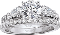 FlyerFit Pear Shape & Pave Diamond Engagement Ring