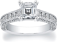 FlyerFit Princess Cut Channel Set  Diamond Setting