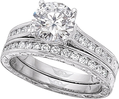 the engagement diamond cut channel image six setting ring shows vatche round with a set rings this brilliant prong center c