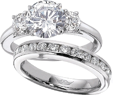 FlyerFit Round Brilliant Three Stone Diamond Engagement Ring 5137SPL