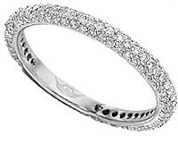 FlyerFit Thin Pave Diamond Band 5137SRWB