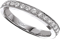 FlyerFit Thin Pave Diamond Band
