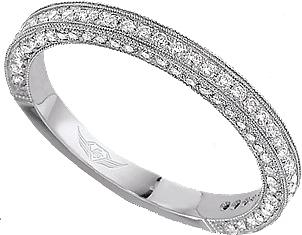 3 sided diamond wedding bands