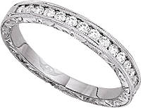 FlyerFit Vintage Channel-set Round Brilliant Diamond Band