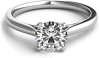 Four Prong Basket Solitaire Diamond Engagement Ring